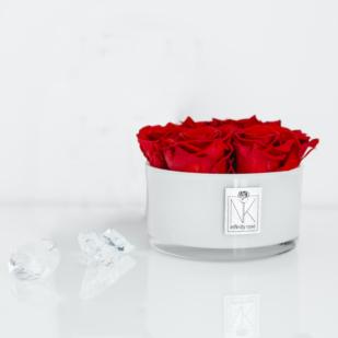 Infinity Rose in Glasschale