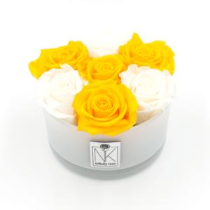 Glasschale Yellow-White